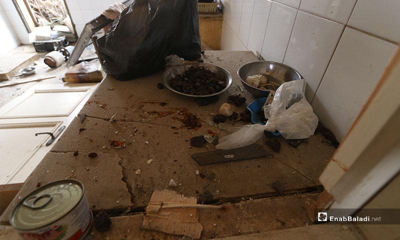 طعام عائلة سورية غربي حلب  قبل قصف قوت النظام وروسيا -18 كانون الثاني 2020 (عنب بلدي)