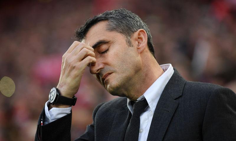 مدرب نادي برشلونة الإسباني، إرنستو فالفيردي، (Getty İmages).