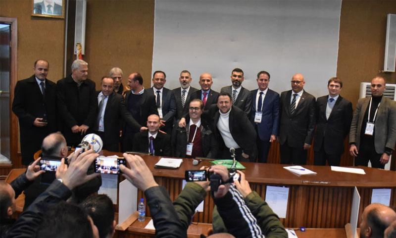 اجتماع لجنة الفيفا مع اتحاد كرة القدم السوري الجديد في كانون الأول من عام 2019 (فيفا)