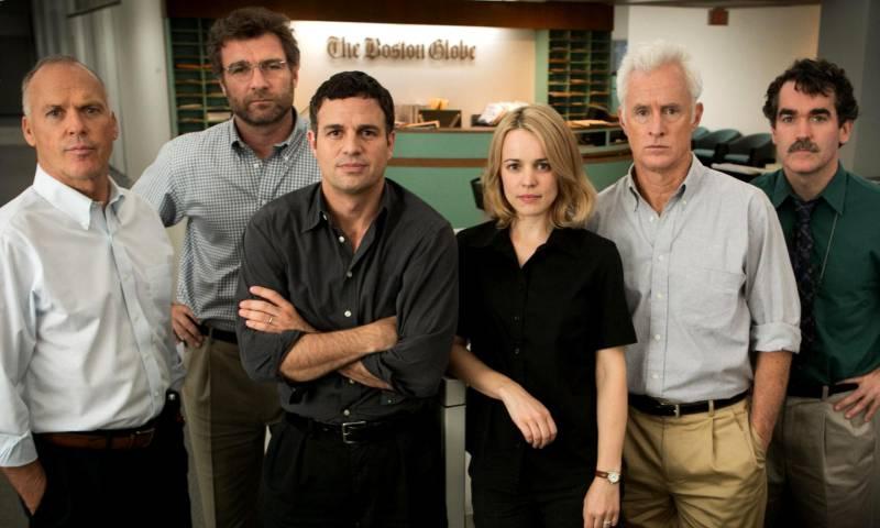 مشهد من فيلم spotlight 2015 (موقع IMDb)