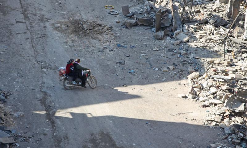 آثار القصف على مدينة معرة النعمان -13 كانون الثاني 2020 (فرانس برس)