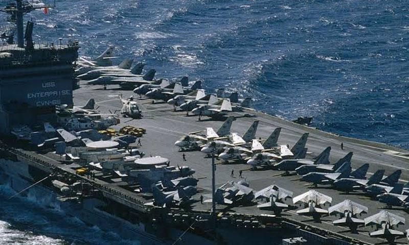 حاملة طائرات أمريكية (رويترز)
