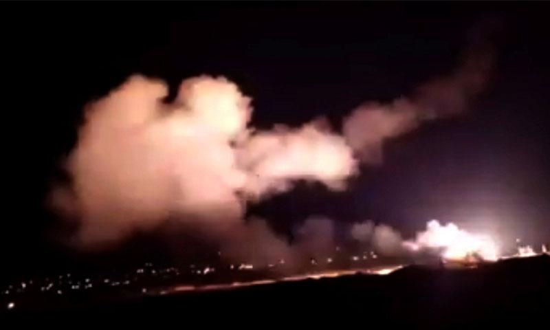 الدفاعات الجوية السورية تتصدى لقصف إسرائيلي (سانا)