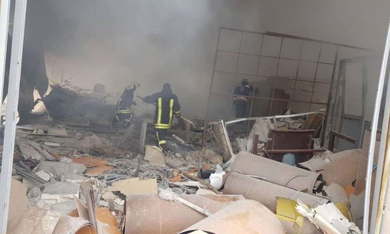 القصف على القاسمية بريف حلب الغربي من قبل قوات النظام -17 كانون الثاني 2020 (الدفاع المدني)