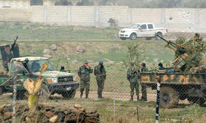 جيش النظام أثناء معارك السيطرة على درعا - تموز 2018 (رويترز)