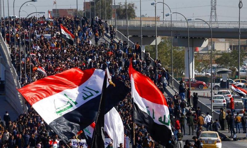 تجدد المظاهرات في العراق -12 كانون الثاني 2020(رويترز)