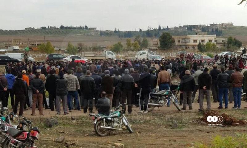 تشييع الشاب محمد أبازيد في درعا البلد -14 من كانون الثاني 2020 (تجمع أحرار حوران)