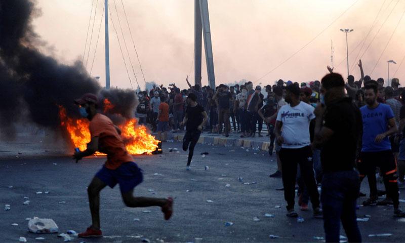 مظاهرات العراق (رويترز)