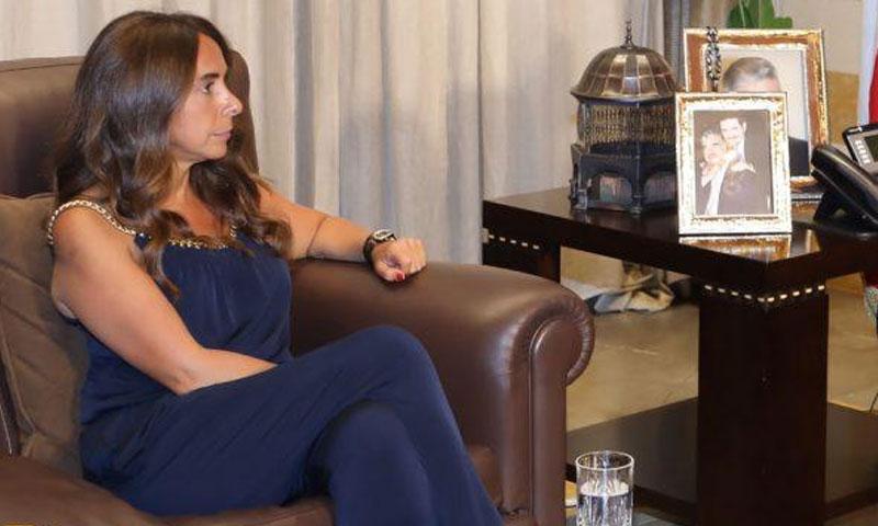زينة عكر وزيرة الدفاع اللبنانية (المرصد)