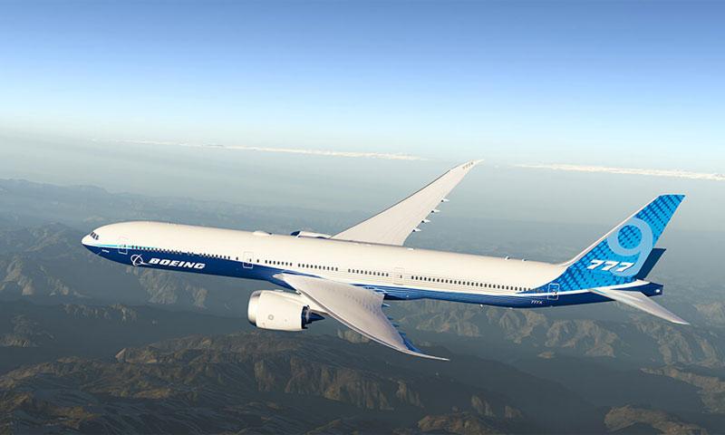 الطائرة ذات المحركين الأضخم للركاب في العالم بوينغ777 إكس-25 كانون الثاني (boeing)