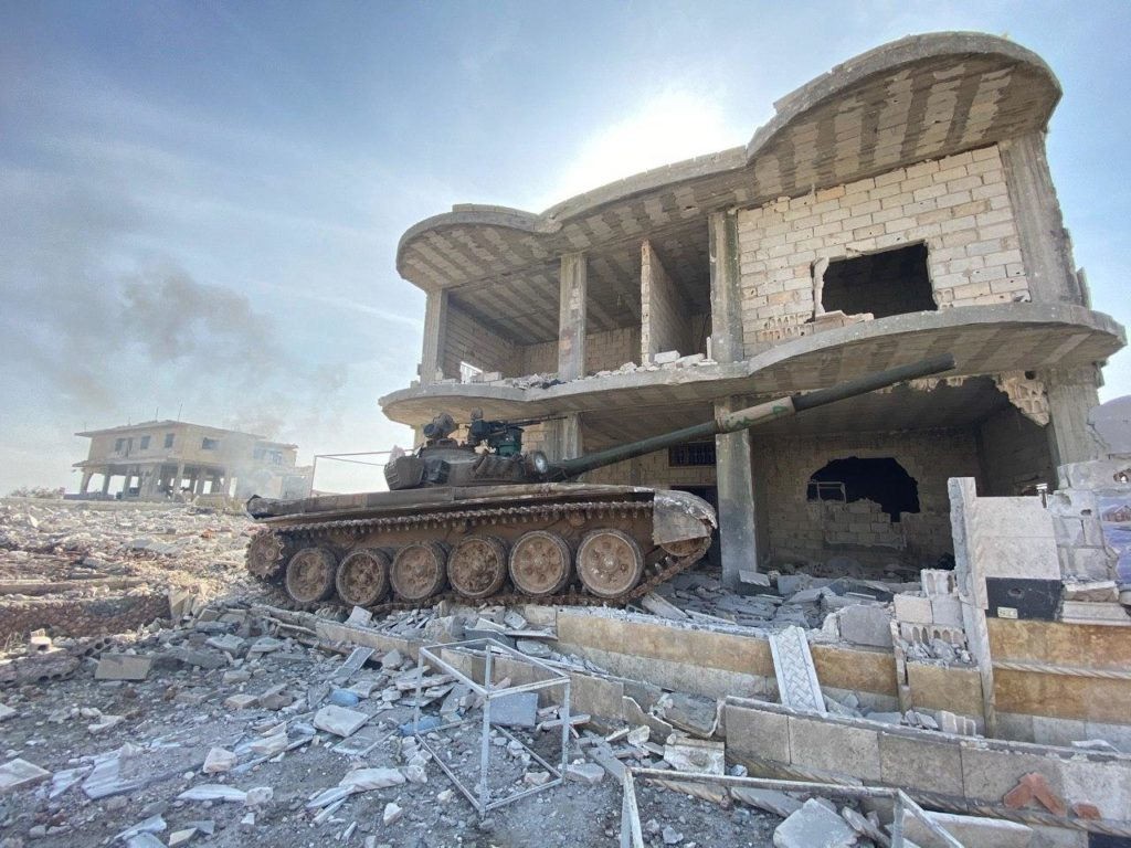 سيطرة قوات النظام على مدينة معرة النعمان (قناة Oleg Blokhin على تلغرام)
