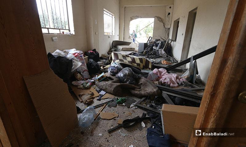 دمار في أحد المنازل نتيجة القصف على جمعية بالا بريف حلب الغربي- 18 من كانون الأول 2020 (عنب بلدي)
