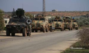 """نظام رادار كشف قذائف الهاون التركي """"Serhat II"""" ضمن الرتل العسكري التركي - 22 شباط 2020 (عنب بلدي)"""