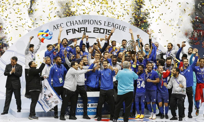 لحظة تتويج الهلال السعودي بكأس أبطال آسيا-24 من تشرين الثاني 2019 (İMAGO İMAGES)