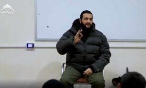 القائد العام لهيئة تحرير الشام أبو محمد الجولاني- 5 من شباط 2020 (هيئة تحرير الشام فيديو)