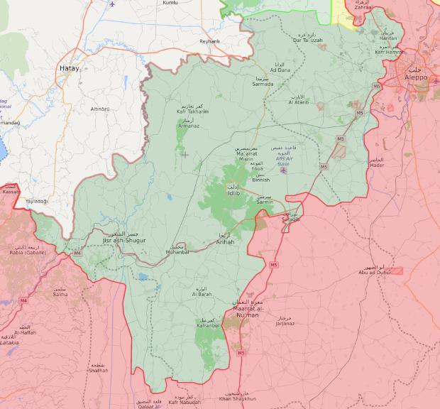 خريطة السيطرة الميدانية في شمال غربي سوريا - 6 شباط 2020 (Livemap)