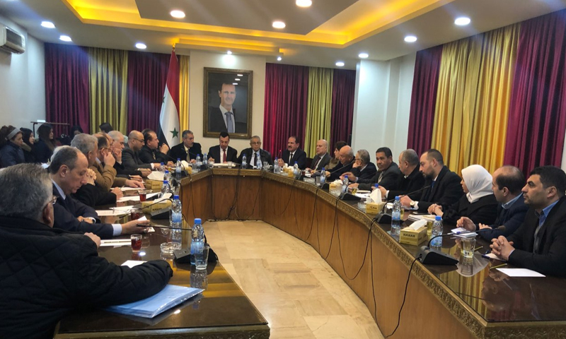 اجتماع وزارة النقل في حكومة النظام - 10 شباط 2020 (وزارة النقل)