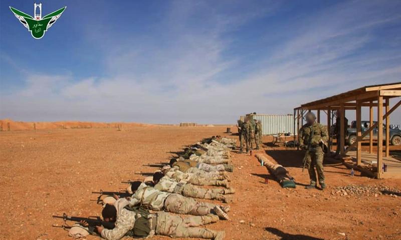 تدريبات عناصر جيش مغاوير الثورة في منطقة التنف من قبل قوات التحالف الدولي - 10 شباط 2020 (جيش مغاوير الثورة)