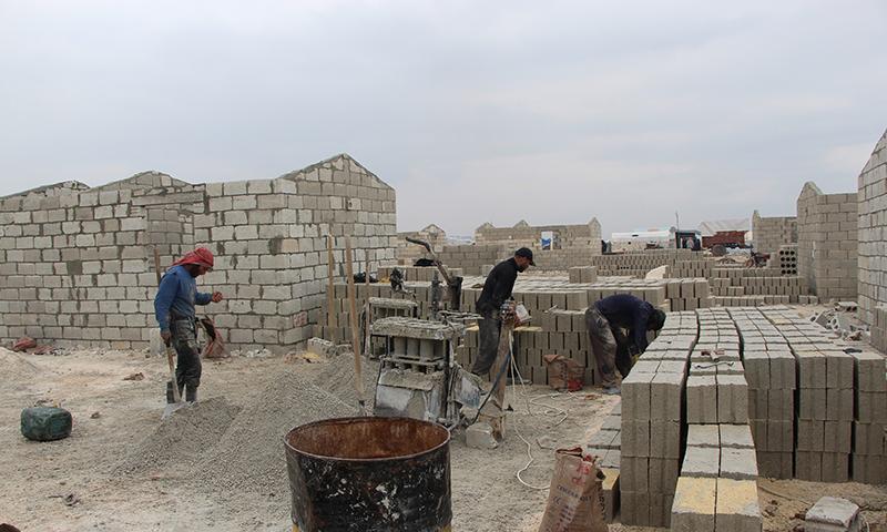 """الوحدات السكنية التي تعمل على بنائها منظمة """"İHH"""" بدعم من الرئيس التركي رجب طيب أردوغان (T24)"""