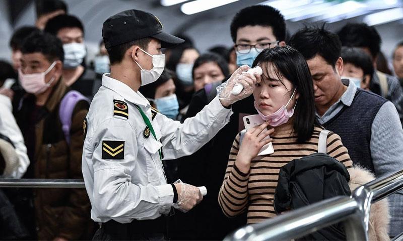 اجراءات احتراز الحكومة الصينية في مطارات العاصمة بكين 9 من شباط 2020 - (Star)