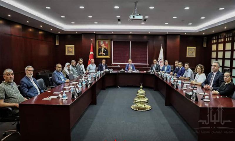 لقاء أعضاء من غرفة تجارة الباب مع غرفة تجارة غازي عينتاب التركية - 22 حزيران 2019 (مجلس الباب المحلي)