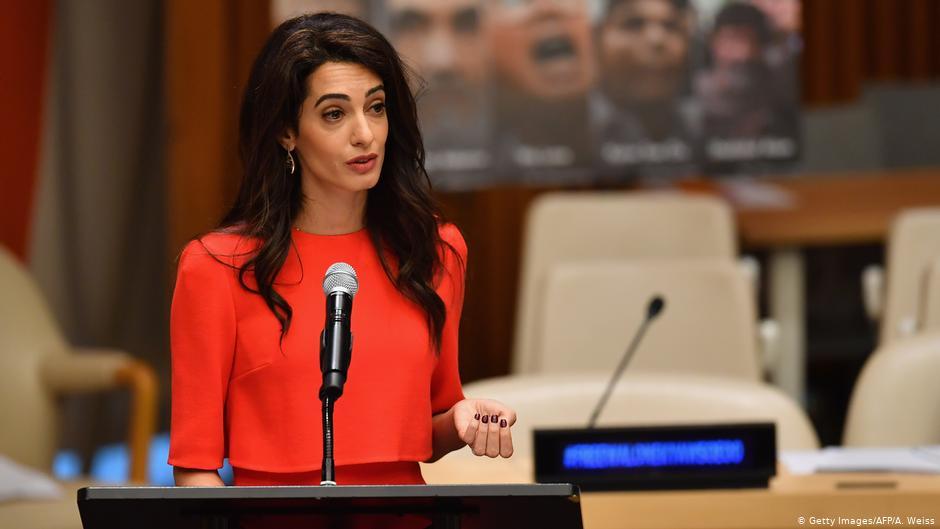 المحامية البريطانية ذات الأصول اللبنانية أمل كلوني، 2020، AFP