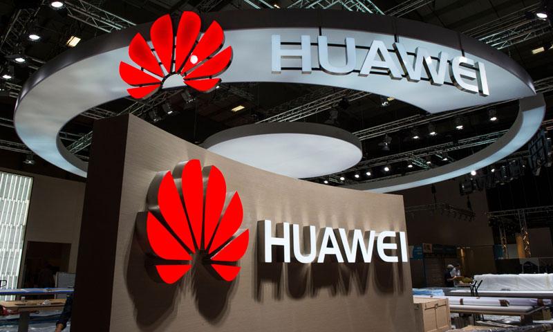 صورة تظهر شعار شركة الالكترونيات الصينية هواوي في 2أيلول سبتمبر 2015 في برلين