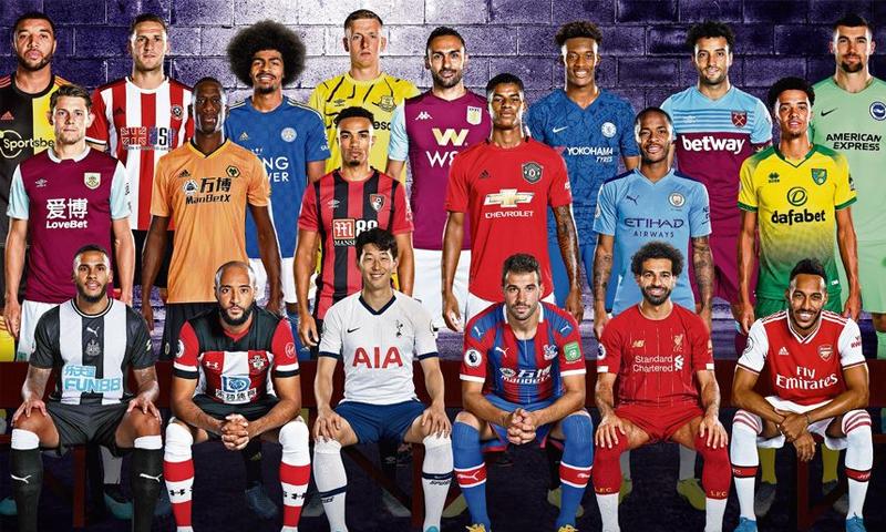الصورة الأيقونية المستخدمة لإطلاق الموسم الافتتاحي 2019/20، تم إعادة صياغتها مع لاعبين وذلك للتوحد ضد العنصرية-(PremierLeague)