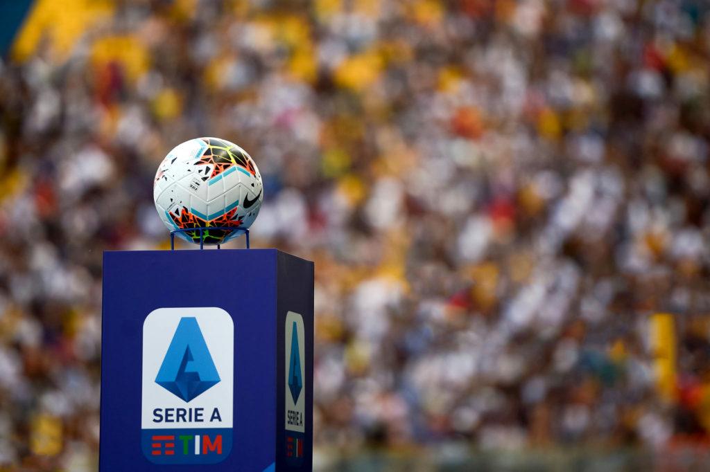 شعار الدوري الإيطالي مع كرة القدم الخاصة به- 2019 (Getty Images)