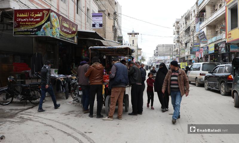 صور تظهر التجمعات الموجودة في مدينة الباب - 28 من آذار (عنب بلدي)
