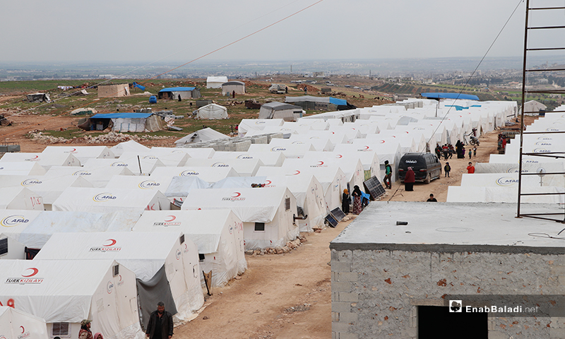 مخيم الأزرق التابع لمدينة الباب بريف حلب- 25 من آذار (عنب بلدي)