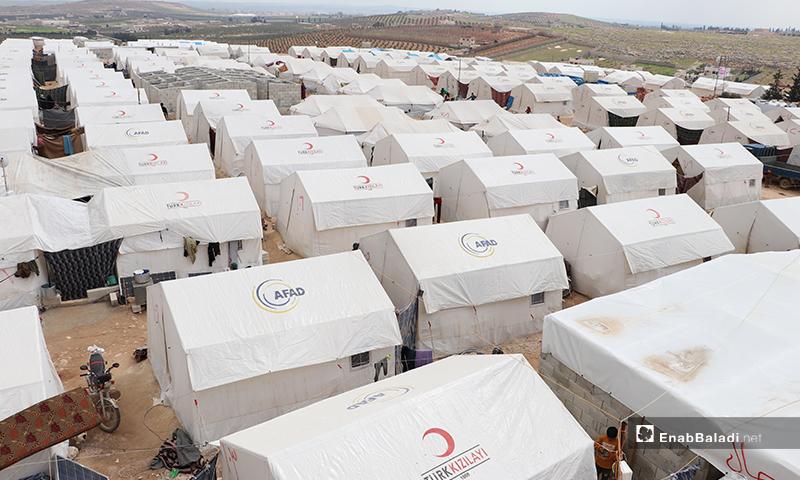مخيم الأزرق التابع لمدينة الباب بريف حلب- 25 من آذار 2020 (عنب بلدي)