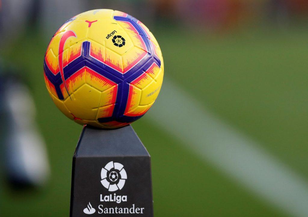 شعار الدوري الإسباني مع كرة- 2018 (REUTERS)