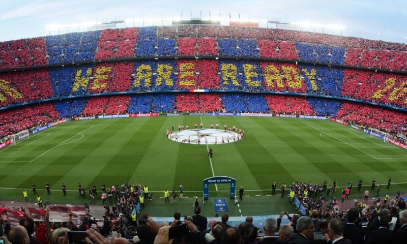 ملعب برشلونة قبل مباراة الكلاسيكو ضد ريال مدريد- 6 آيار 2015 (FC BARCELONA)