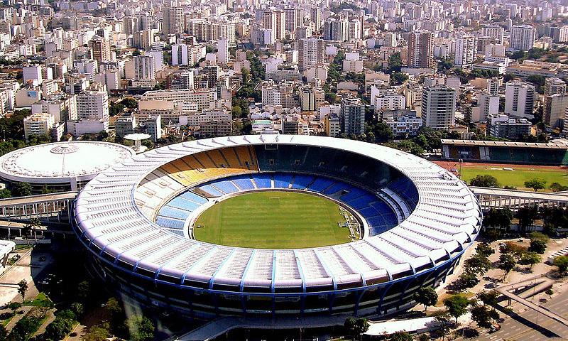 """لقطة جوية لملعب """"ماركانا"""" الشهير في البرازيل- 2009 (Arthur Boppré)"""