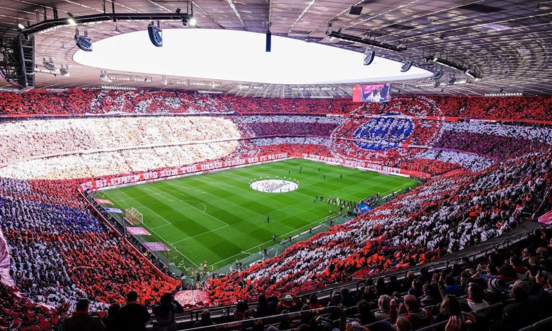 ملعب بايرن ميونخ الألماني آليانز آرينا (Fc Bayern)