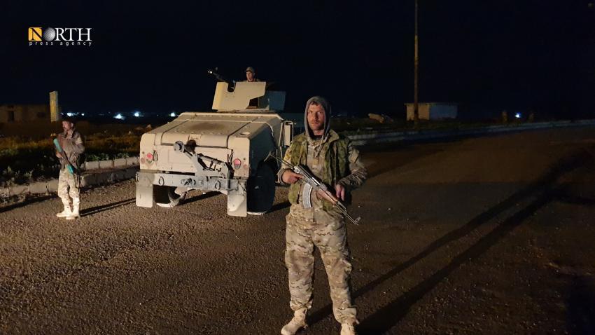 """استنفار أمني في سجن غويران بالحسكة عقب فرار معتقلين من تنظيم """"الدولة الإسلامية""""، 30 آذار 2020، المصدر: نورث برس."""