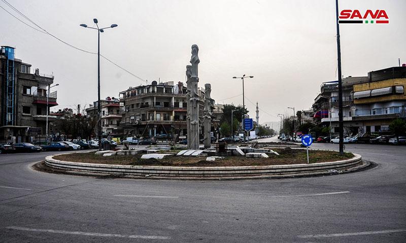 ساحة التحرير وسط العاصمة السورية دمشق(سانا)