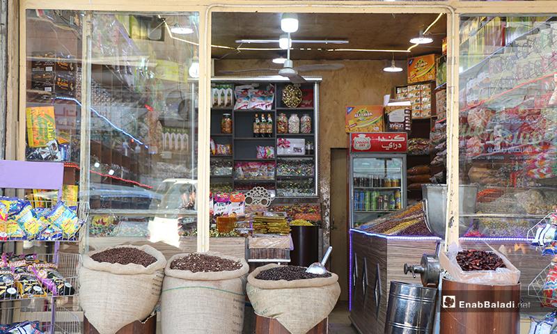 بقالة في مدينة اعزاز بريف حلب- 30 من نيسان (عنب بلدي)