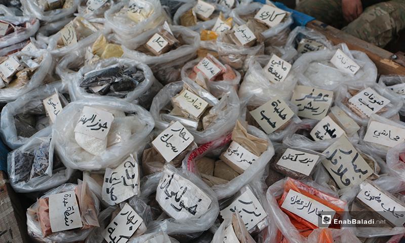 أنواع البهارات في سوق مدينة إدلب- 7 من نيسان (عنب بلدي)
