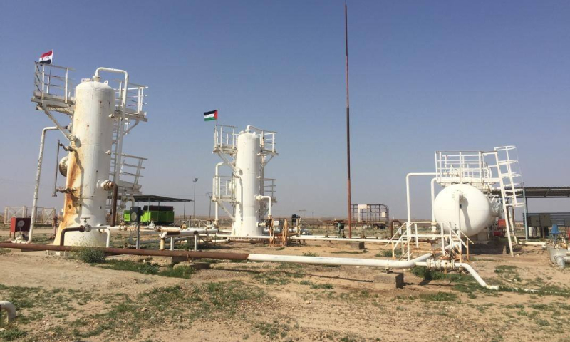 حقل المهباش النفطي في دير الزور - 11 آذار 2020 (وزارة النفط/ فيس بوك)