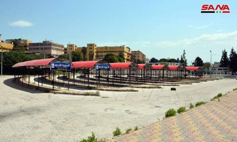 موقع الأسعار الشعبية في مدينة اللاذقية شرقي سوريا 28 من نيسان 2020 - (سانا)