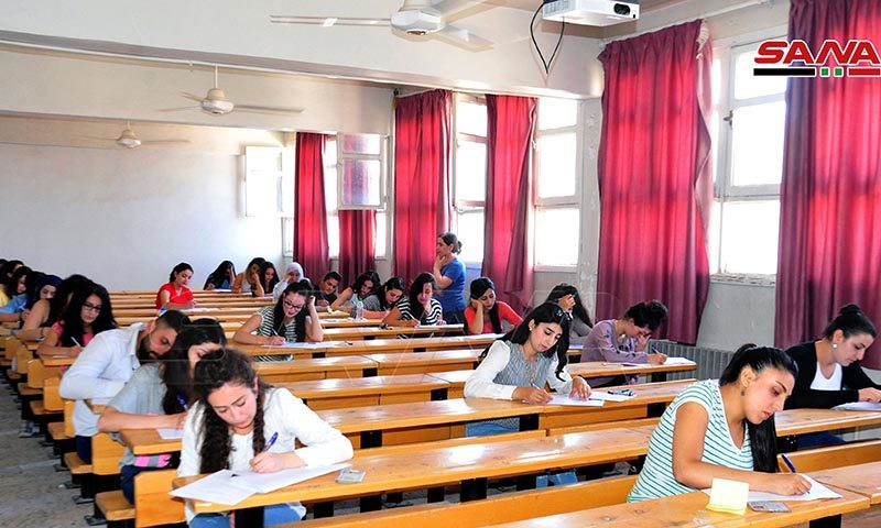 الامتحانات في جامعة دمشق (سانا)
