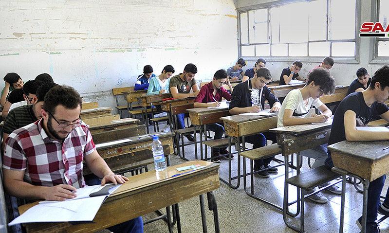 امحانات الشهادة الثانوية في سوريا -2019 (سانا)