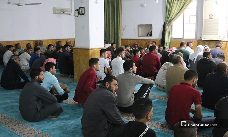 خطبة عيد الفطر في بلدة دابق شمال حلب - 24 أيار 2020 (عنب بلدي/ عبد السلام مجعان)