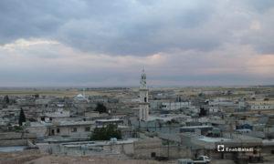 مسجد دابق شمال حلب خلال ساعات عيد الفطر الأولى - 24 أيار 2020 (عنب بلدي/ عبد السلام مجعان)