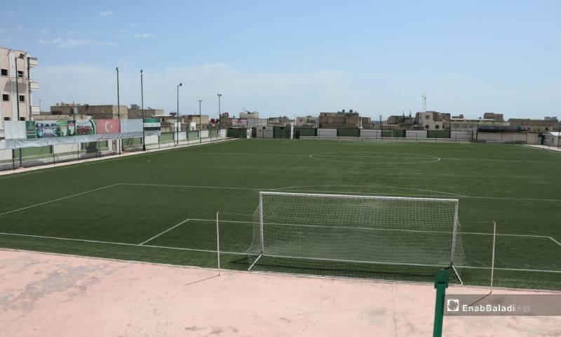 ملعب نادي الباب الرياضي 4 من أيار 2020 (عنب بلدي)