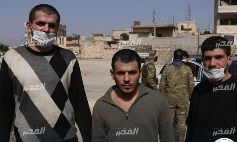 عناصر فيلق الشام المفرج عنهم بعملية تبادل الأسرى - 18 أيار 2020 (شبكة المحرر)