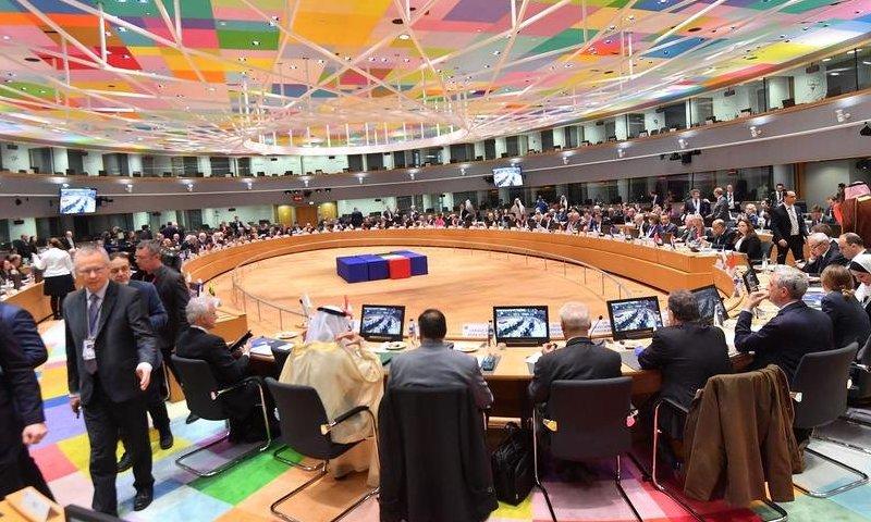 "جانب من لقاءات مؤتمر ""بروكسل 3"" - 14 من آذار 2019 (AFP)"