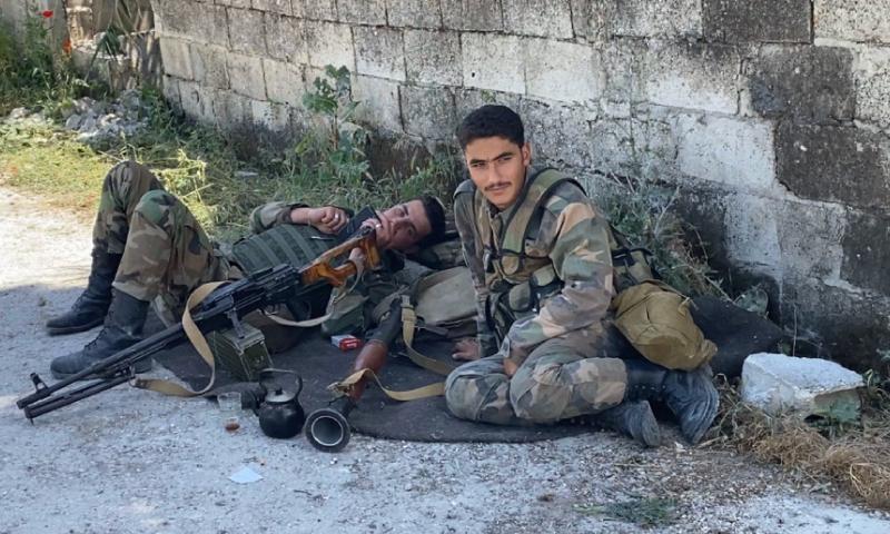عناصر تابعين للميليشيات الروسية في البادية السورية - 11 أيار 2020 (أوليغ بلوخين)